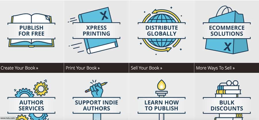 self publishing companies lulu
