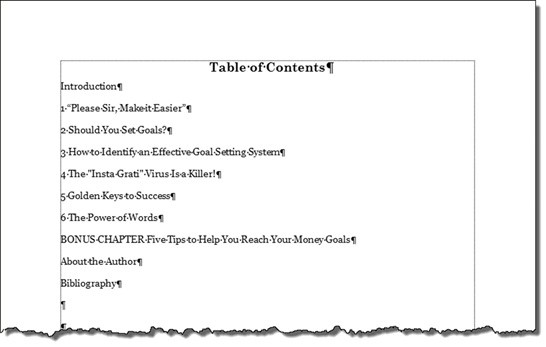 Word ToC Tool