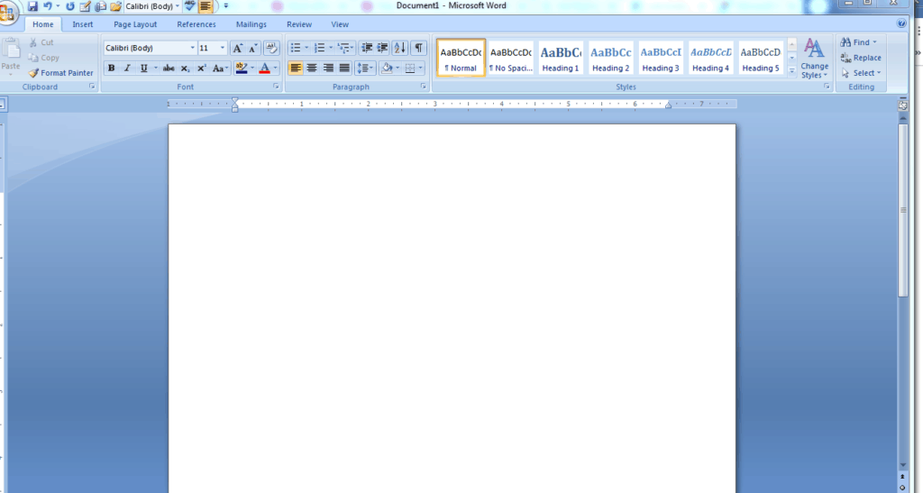 microsoft word blank page