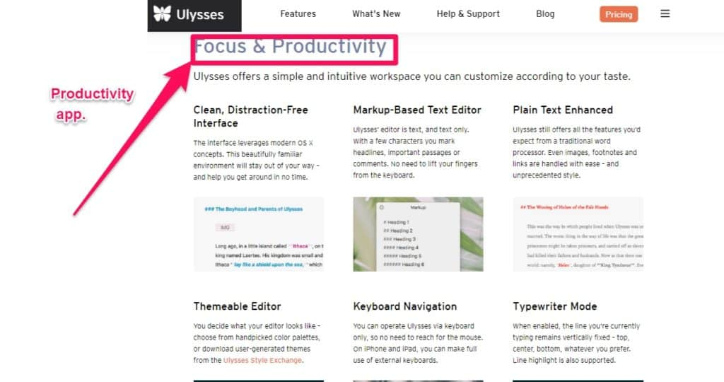 ulysses writing software