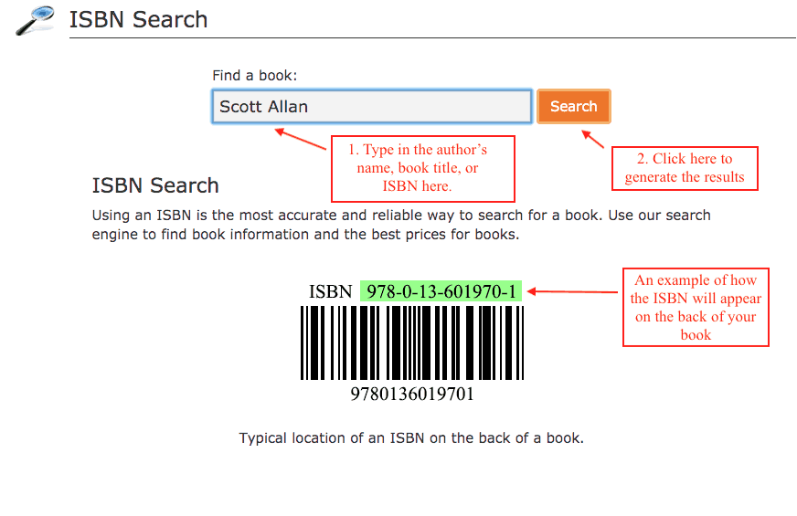 lookup isbn numbers