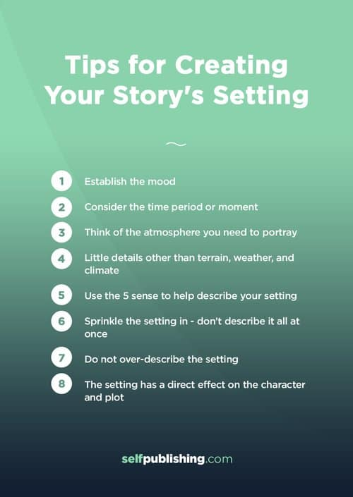 setting of a story tips