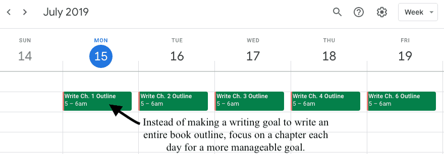 writing plan schedule