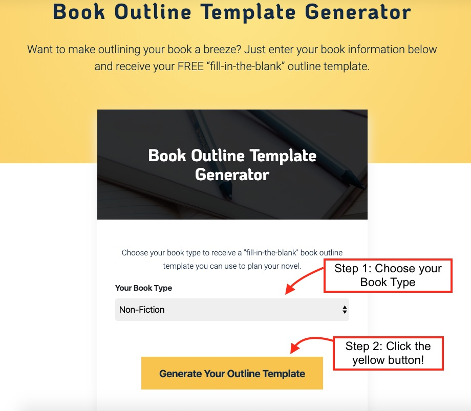outline book template