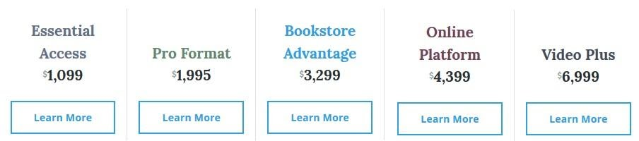 price chart for zondervan publishing packages